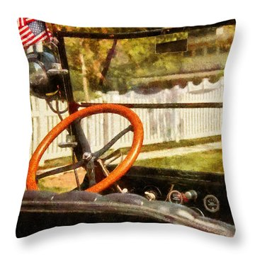 Car - Back To The Old Days Throw Pillow by Mike Savad