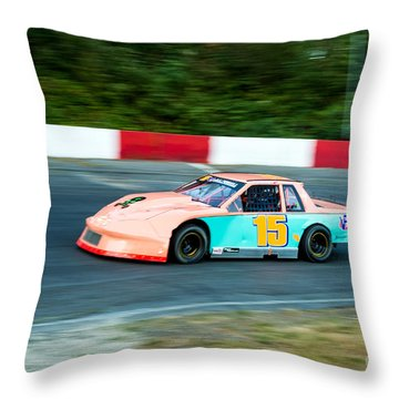 Car 15 In The Lead. Throw Pillow