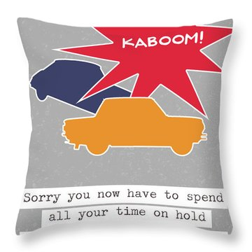 Car Accident Card- Art By Linda Woods Throw Pillow