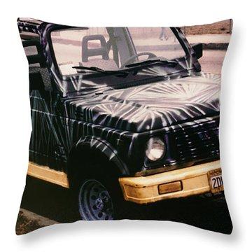 Car Art Throw Pillow