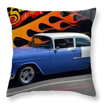 Car Crazy 55 Throw Pillow by Bill Dutting