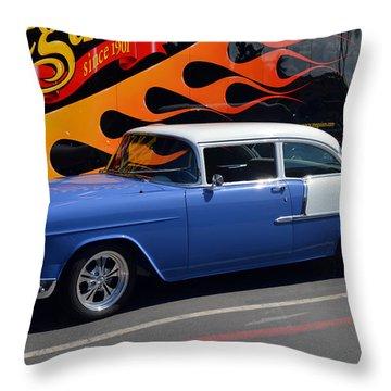 Car Crazy 55 Throw Pillow