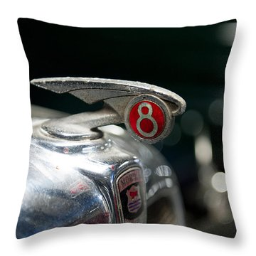 Car Mascot V Throw Pillow by Helen Northcott