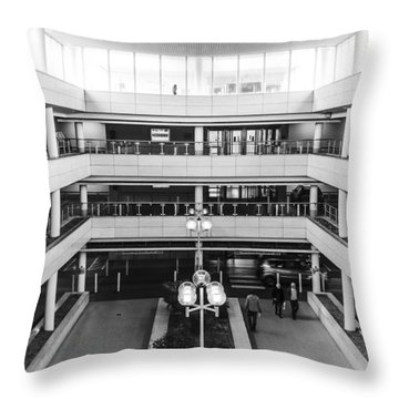 Throw Pillow featuring the photograph Car Park by David Isaacson