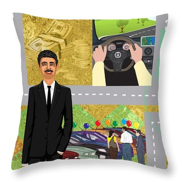 Car Sales Pro  Throw Pillow by Megan Dirsa-DuBois