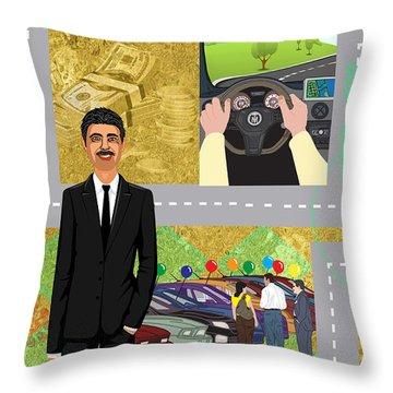 Car Sales Pro  Throw Pillow