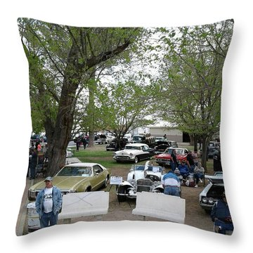 Throw Pillow featuring the photograph Car Show In Deming N M by Jack Pumphrey