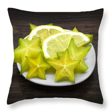 Carambola And Lemon Throw Pillow