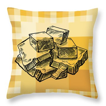 Caramel And Fudge Throw Pillow