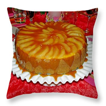 Caramel Apple Cheesecake Valentine Throw Pillow