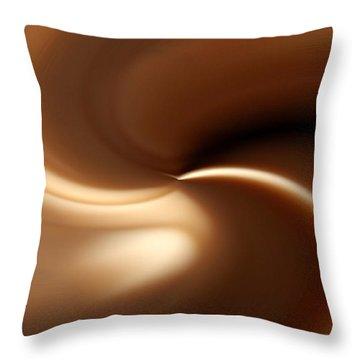 Caramel Throw Pillow
