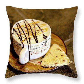 Caramel Macchiato Throw Pillow