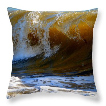 Caramel Swirl Throw Pillow