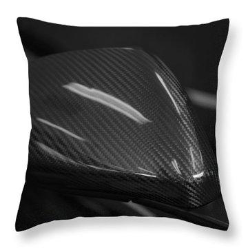 Carbon Mirror Throw Pillow