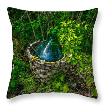 Carboy In A Basket Throw Pillow