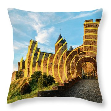 Carcassonne's Citadel, France Throw Pillow
