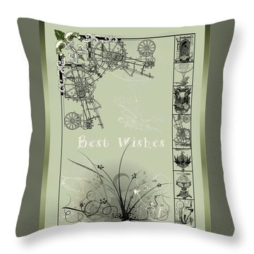 Card Best Wishes Throw Pillow