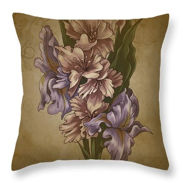 Card Floral Anyttime Throw Pillow