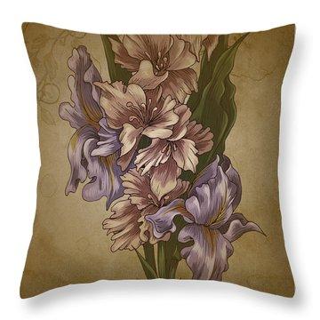 Card Floral Anyttime Throw Pillow