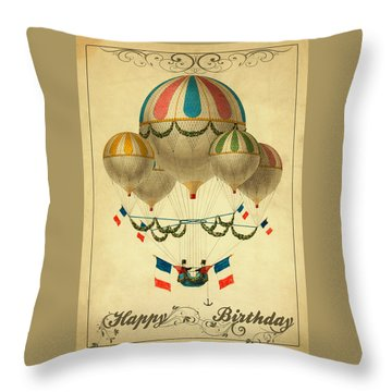 Card Happy Birthday Throw Pillow