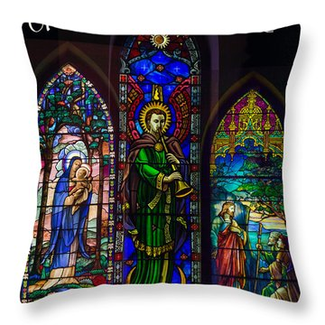 Card Merry Christmas Throw Pillow