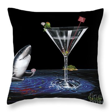Card Shark Throw Pillow