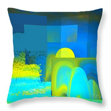 Cardboard Sunrise Throw Pillow by Ann Johndro-Collins