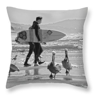 Cardiff Locals Throw Pillow