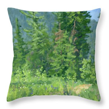 Cardiff Spring Throw Pillow