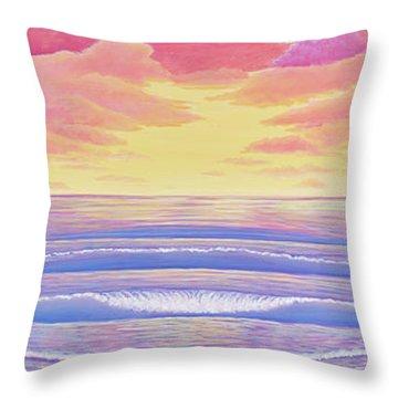 Cardiff Sunset Throw Pillow