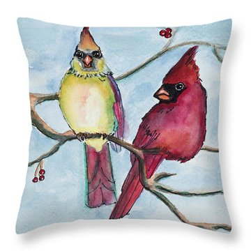 Cardinals Throw Pillow