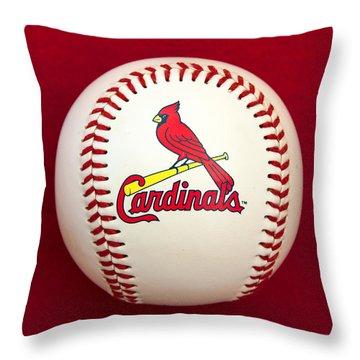 Cardinals Throw Pillow by Steve Stuller