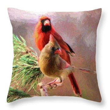 Cardinals2 Throw Pillow