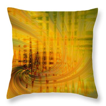 Cardiogram Throw Pillow by Cathy Donohoue