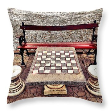 Care For A Game Of Chess? Throw Pillow