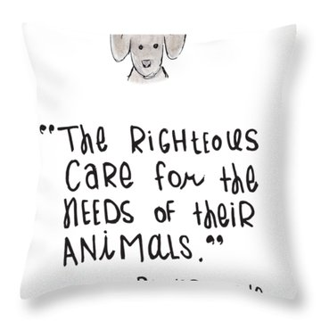 Care For Animals Throw Pillow