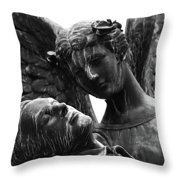 Care For Me Angel  Throw Pillow