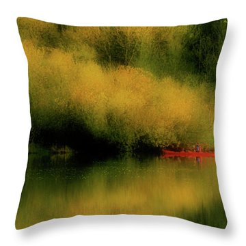Carefree Afternoon Throw Pillow by Bonnie Bruno
