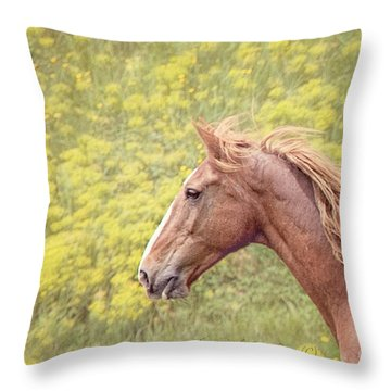 Carefree Throw Pillow by Laurinda Bowling