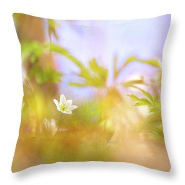 Carefree Spring Throw Pillow