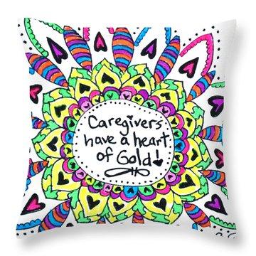 Caregiver Flower Throw Pillow