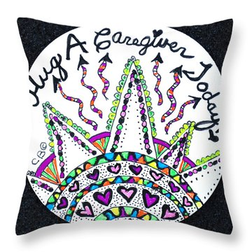 Caregiver Hugs Throw Pillow