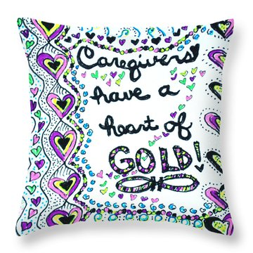 Caregiver Joy Throw Pillow