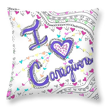 Caring Heart Throw Pillow