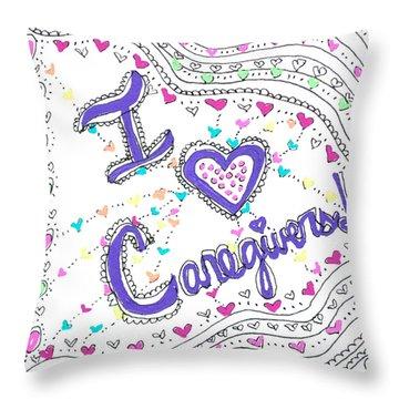 Caring Heart Throw Pillow