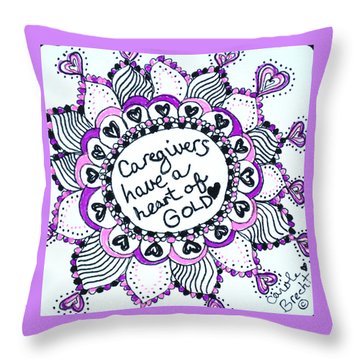 Caregiver Sun Throw Pillow
