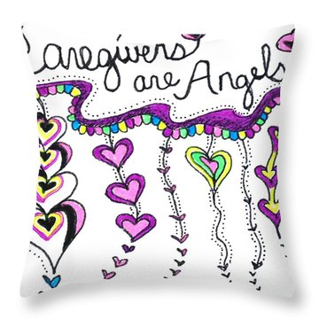 Caregiver Chime Throw Pillow