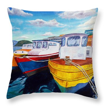 Carenage Scene 1 Throw Pillow