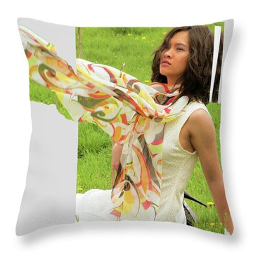 Cares Gone And Flew Away Throw Pillow