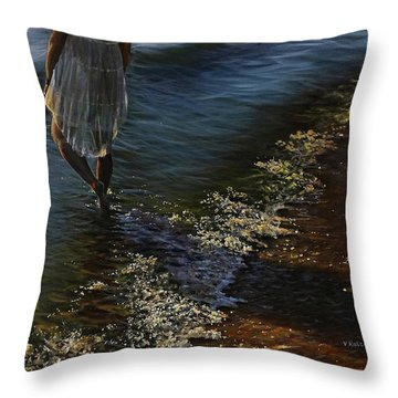 Caressed By The Sun Throw Pillow